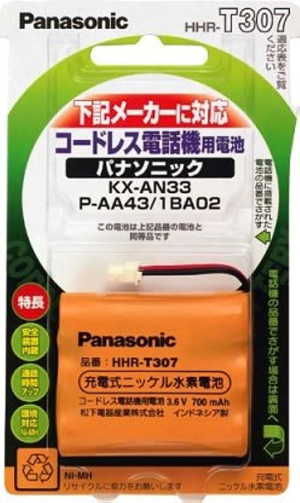 谷実験柔らかさパナソニック 充電式ニッケル水素電池 コードレス電話機用 HHR-T307