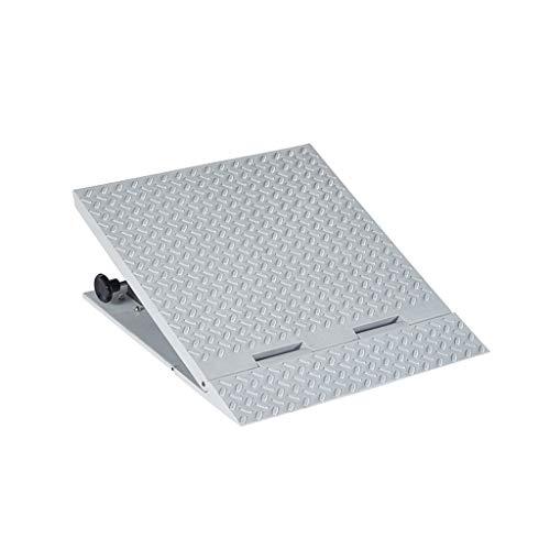 XUZgag Rolstoel Ramps, Slope Pad Anti-slip Huishoudelijke Trolley Ramps Kan Lift Hoogte Aanpassing Drempel Ramps Hoogte: 13,5~22 CM Non-slip 50 * 56 * 13.5~22CM Grijs