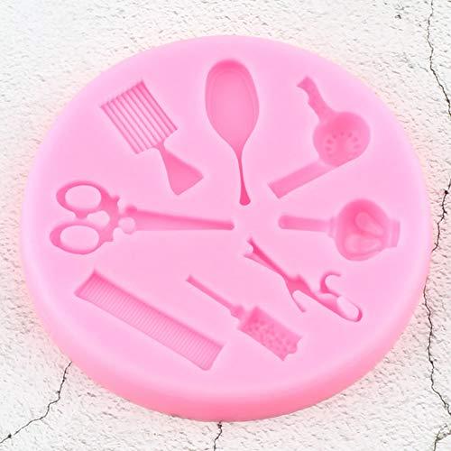 N/ A Make-up Gereedschap kam krullend ijzer spiegel schaar Salon siliconen vormen chocolade Fondant taart decoreren gereedschap