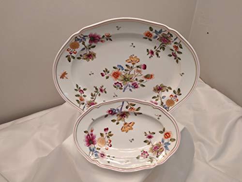 Richard Ginori - Juego de 2 platos ovalados de 34 cm y 22 cm. Antico ducha modelo Duchessa Coreana 01608