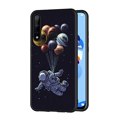 Eouine Capa para celular Huawei P20 Lite 2019, capa de telefone de silicone preta com padrão ultrafino, à prova de choque, capa traseira de gel macio para Huawei P20 Lite 2019/Huawei nova 5i (Space 2)
