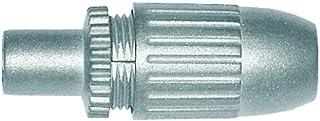 Axing CKS 5 00 IEC Stecker Koax Stecker hochgeschirmt im Vollmetall Gussgehäuse (1 Stück)