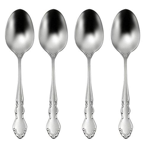 Oneida Satin Dover Dinner Spoons, Set of 4