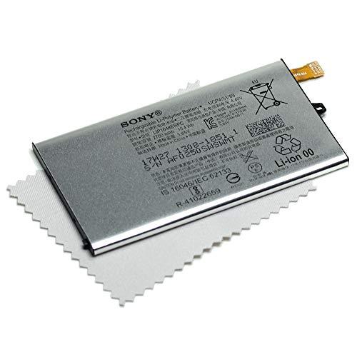 Akku für Sony Original LIP1648ERPC 1308-1851 für Sony Xperia XZ1 Compact mit mungoo Bildschirmputztuch