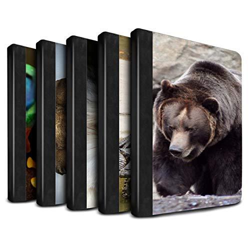 eSwish - Libro de Piel sintética con Funda, IP-TSB/Wildlife Animals Collection Multipack (20 Pck) Apple iPad Pro 12.9 2018/3rd Gen