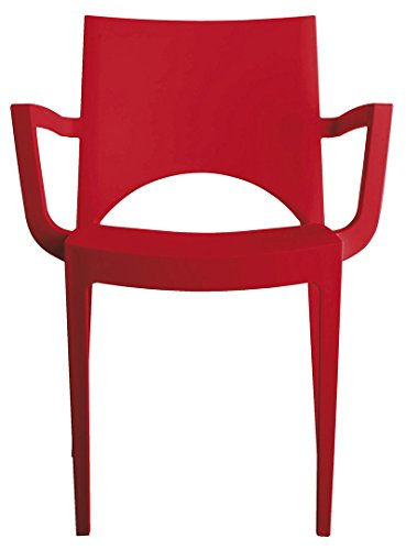 GRAND SOLEIL Grandsoleil Upon Paris Poltrona impilabile, in Polipropilene, Rosso, 51x 58x 80cm, Red, 51 x 58 x 80 cm