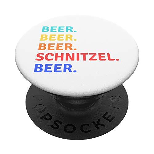 Bier Schnitzel Oktoberfest 2019 Deutscher Trinkteam Tank PopSockets PopGrip: Ausziehbarer Sockel und Griff für Handys/Tablets mit Tauschbarem Top