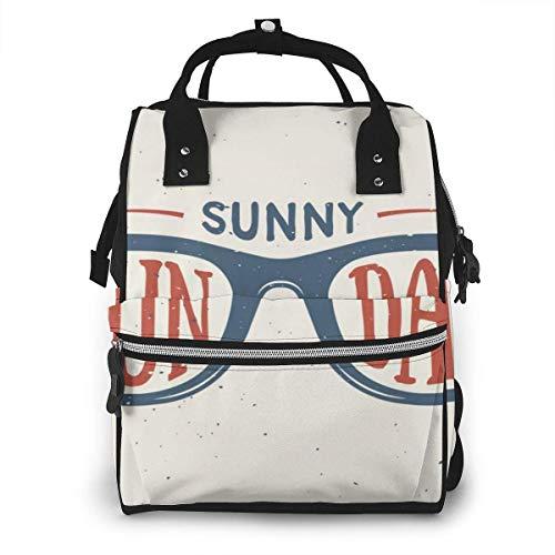 Retro Herbst Sonnenbrille Hip-Hop-Stil Camping Wickeltasche, wasserdichte Leinwand Laptop Rucksack, personalisierte Reiserucksack Studentenrucksack College-Tasche
