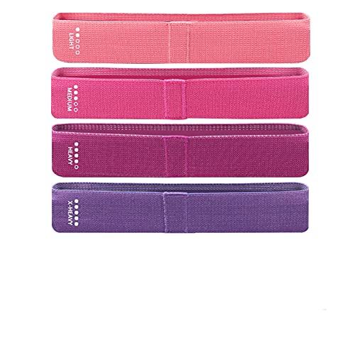 RWEAONT Bandas de Resistencia Fitness Booty Bandas Elástico Caucho Expansor para Yoga Hip Pierna Fuerza Entrenamiento Ejercicio Deporte Equipo de Entrenamiento (Color : Set I)