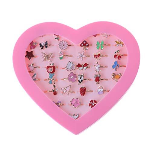 1 x Fancy Verstellbare Cartoon-Ringe Party Favors Kinder Mädchen Action-Figuren Spielzeug, zufälliger Stil
