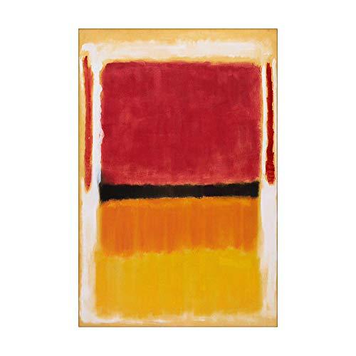 SpringFlower Wandaufkleber Mark Rothko Premium Kunstdruck Dekoration Poster Design Modernes Wandbild Sonderanfertigung Für Wohnzimmer, Wandkunstklebstoff (C Style)