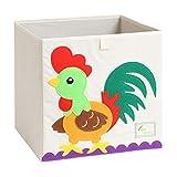 Cubos de almacenamiento plegables con dibujos animados, para niños (cola)