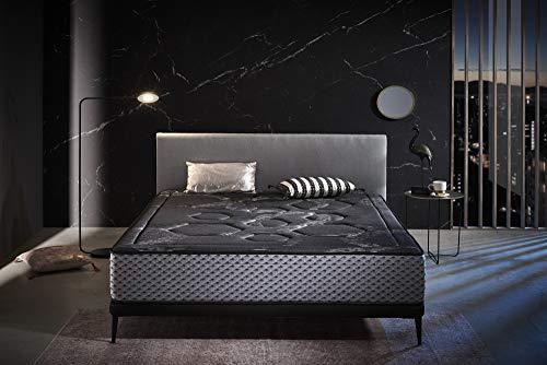 ECCOX - Colchón Viscoelástico Luxury Grafeno Night Confort - Altura 30 cm - Núcleo de Espuma de Alta Densidad Bio Confort Plus - Firmeza Media-Alta - Máxima Adaptabilidad y Confort (160x200 cm)