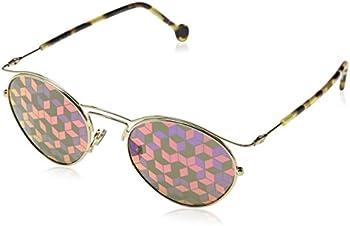 Dior Violet Marqueterie Pattern Round Ladies Sunglasses