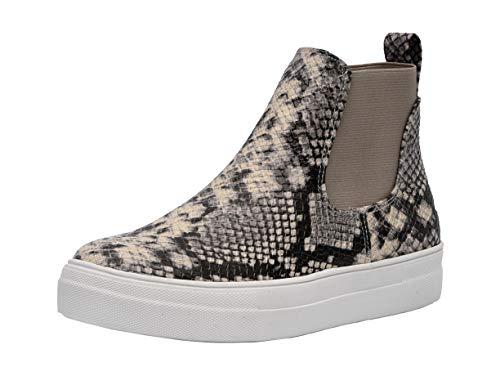 CUSHIONAIRE Women#039s Ramona Sneaker Natural Snake 7