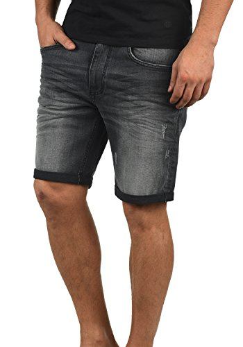 Blend Luke Herren Jeans Shorts Kurze Denim Hose Mit Destroyed-Optik Aus Stretch-Material Slim Fit, Größe:XL, Farbe:Denim Dark Grey (76209)