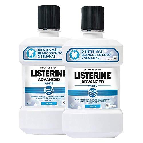 Listerine - Enjuague Bucal Blanqueador Avanzado, 2 x 1000 ml 2 Unidades 2060 g