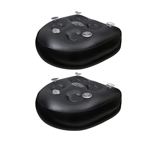 Amuzocity 2 Stück Jacuzzi Spa Booster Sitzkissen Aufblasbar für Badewanne PVC Schwarz