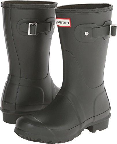 Hunter Womens Original Short Dark Olive Rain Boot - 8 B(M) US