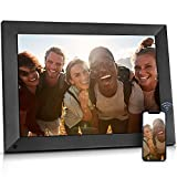 BSIMB 15 Inch Large Digital Picture Frame, WiFi Photo Frame Touch Screen with 16GB Storage, Auto-Rotate, Share Photos and Videos via App Email, Wall Mountable