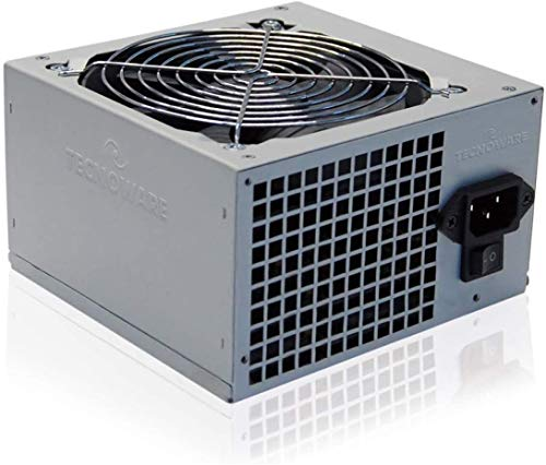 Tecnoware Fuente de Alimentación Free Silent ATX 500 W reales para PC. Ventilador Super Silent de 12 cm, 2 x SATA, 1 x 24 polos, 1 x 12 V, 4+4 polos, 2 x Molex, 1 x Floppy. Paquete individual