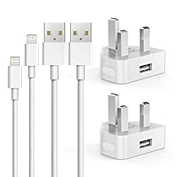 【Wide Compatible】: The charging adapter is compatible with Android smart devices such as iPhone, iPad, iPod, Samsung, Huawei, Galaxy, HTC, etc. The included Charging Cable is suitable for iPhone series, iPad Air, iPod Nano. 【Safe Charging】: Wall char...