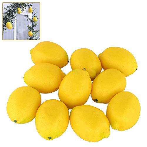 Kylewo Limones Decorativos 10 Piezas de Frutas Artificiales Vegetales Artificiales Frutas Verduras para la decoración de la Cocina del hogar