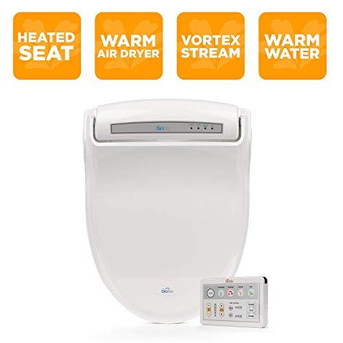 BioBidet Supreme BB-1000 Elongated White Bidet Toilet Seat Adjustable Warm Water, Self Cleaning,...