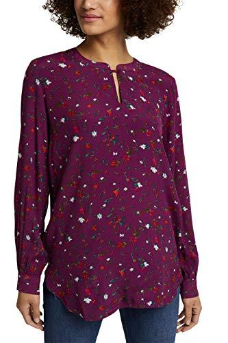 ESPRIT Damen 110EE1F302 Bluse, 603/BORDEAUX RED 4, 38