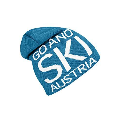 Ski Austria Beanie GO and SKI Mütze (one Size, Petrol/weiß)
