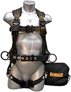 DEWALT Harness with Quick Connect Buckles, 3 D-Rings, Polyester/Nylon, 13.5