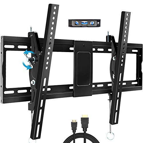"BLUE STONE Tilt TV Wall Mount Bracket for Most 32-83 Inches TVs, TV Wall Mount with VESA up to 600x400mm, Weight up to 165lbs, Fit 16"", 18"", 24"" Studs, LED, LCD, OLED, 4K Flat Screen Curved TV Mount"