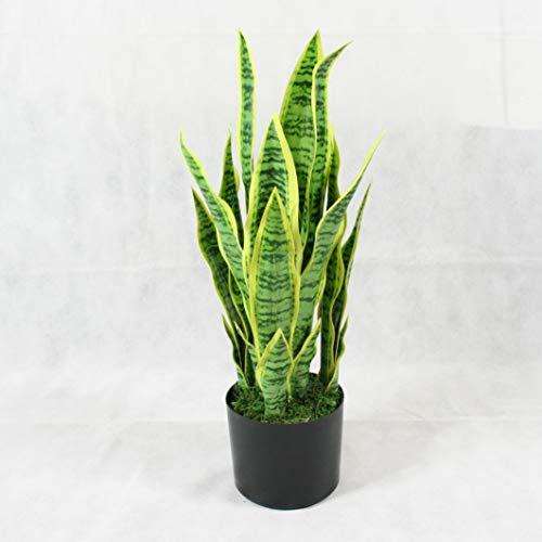 FloralStem Serpiente Artificial Sansevieria Planta Hogar Oficina Decoración Interior