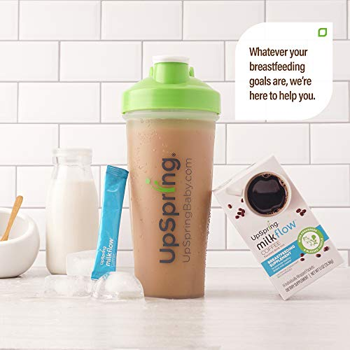 Milkflow Lactation Supplement Coffee Drink Mix by UpSpring | Breastfeeding Supplement, Promotes Breastmilk Supply | A Blend of Fenugreek & Blessed Thistle | Easy to Make Single-Serving Packs | 14Ct