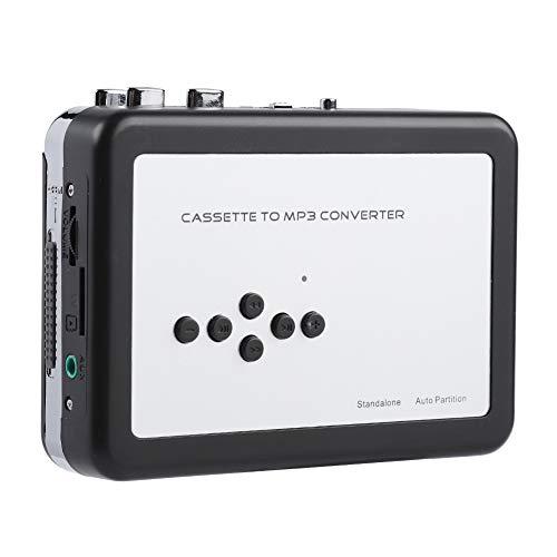 Cassette naar mp3 converter, usb mp3 cd band naar mp3 converter cassettespeler draagbare digitale walkman muziekspeler met koptelefoon voor laptop / pc