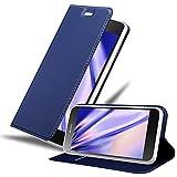 Cadorabo Funda Libro para Sony Xperia Z5 Premium en Classy Azul Oscuro - Cubierta Proteccíon con Cierre Magnético, Tarjetero y Función de Suporte - Etui Case Cover Carcasa