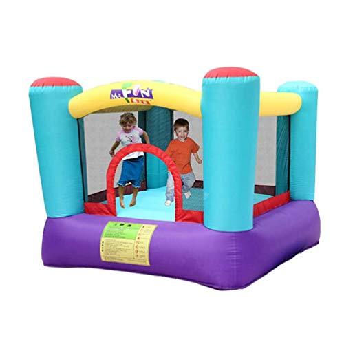 WRJY Castillos hinchables Trampolín para niños, Castillo Hinchable para niños Casa de Salto Juego Diversión Zona de Juegos Familiar Equipo Interior Trampolín pequeño de Cuatro columnas