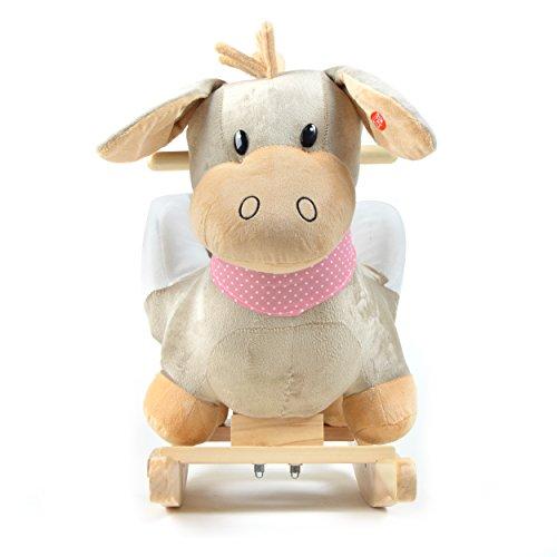 Pink Papaya Schaukeltier – Esel Pepe – Kinder und Baby Schaukelpferd, spezieller Schaukelstuhl für Kinder, mit Sound, Kopfhöhe ca. 50 cm, Sitzhöhe ca. 30 cm - 2
