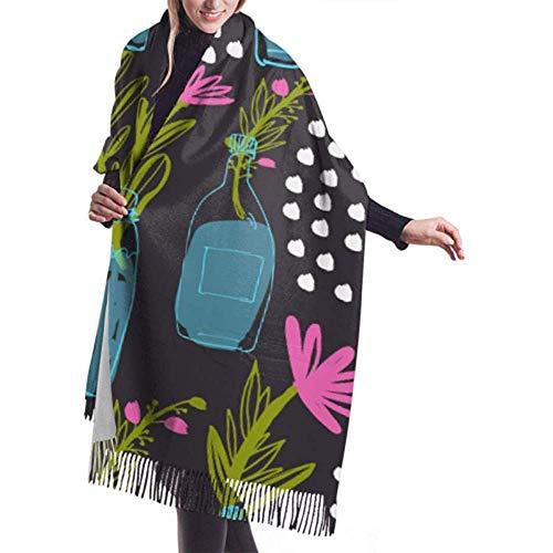 Laglacefond Winter sjaal Cashmere feel bloem vaas uw sjaal stijlvolle sjaal wraps zachte warme deken sjaals