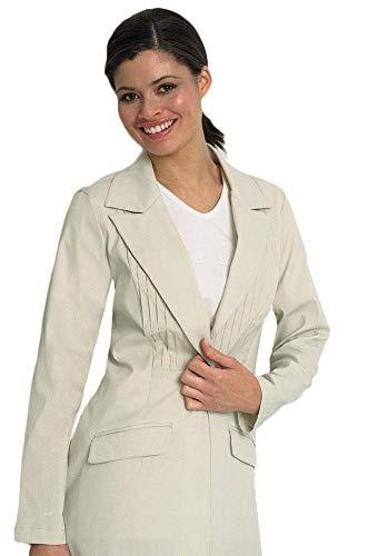 Executive Lab Coat for Women, Lapel Collar Esthetician Unifrom (Light Sage)