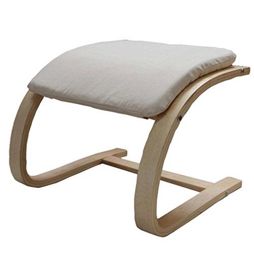 Hocker Möbel 390 MM Massivholz Fußhocker Freizeit Chaiselongue Begleiter (Color : Gray)