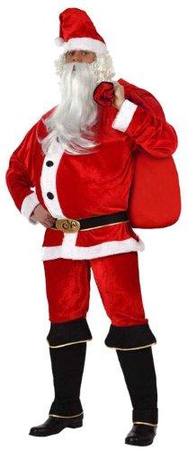 Atosa 8422259121626 - Costume da Babbo Natale Uomo, Taglia: 50 - 52