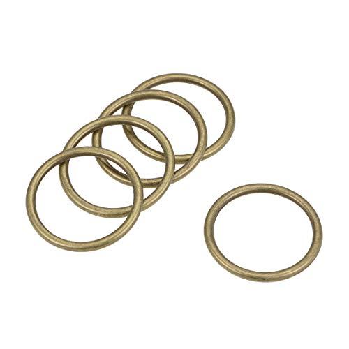 uxcell O-Ring Schnalle Metall O-Ring für Hardware Taschen Gürtel Basteln DIY 1.2-Inch(30mm) Bronze Tone