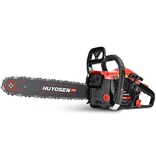HUYOSEN PRO Chainsaw, 42CC 2-Cycle Gas Powered Chainsaw, 16-Inch Chainsaws, Handheld Petrol Gasoline Power Chain Saws for Cutting Trees Gas Powered, Wood, Garden and Farm(4216L)