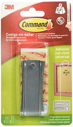 Command 17047 Clavo metálico para colgar cuadros (dentado), Pequeñas