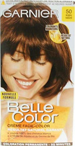 teinture pour les cheveux couleur permanent belle color 50 acajou