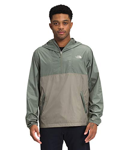 The North Face Men's Cyclone Anorak, Agave Green/Mineral Grey, XXL