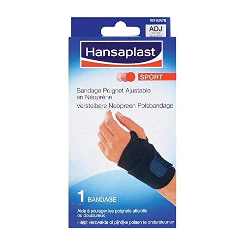 2 x Hansaplast Sport - Verstellbares Neopren - Armband - 1 Stück - schwarz