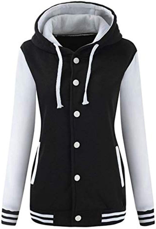 XYDSOFU Damen Winter Warm Baseball Hoodie Sport Sweatshirt Mantel Sweatshirt Streetwear Sweatshirt Sweat Femme L Weiß