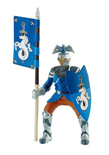 Bullyland 80785 - Spielfigur Turnierritter blau, Fantasy Sammelfigur, ca. 12,5 cm groß, liebevoll handbemalte Figur, PVC-frei, tolles Geschenk für Jungen und Mädchen zum fantasievollen Spielen